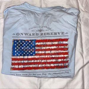 Comfort colors onward reserve American flag tshirt